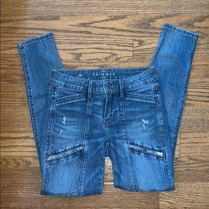 WHITE HOUSE BLACK MARKET skinny jeans 00